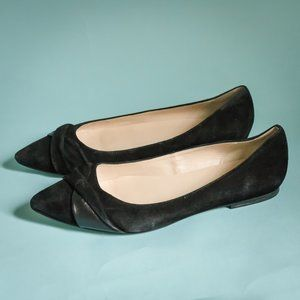 Cole Haan 7.5 Black Suede Pointed Toe Flats